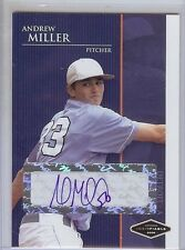 """ANDREW MILLER 2006 JUST MINORS JUSTIFIABLE """"CERTIFIED AUTOGRAPHED"""" ROOKIE CARD!"""