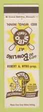 Matchbook Cover - Nybo's Cafe Bowling Red Wing MN