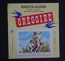 Buvard Biscottes GREGOIRE n°52 Le cheval de Marly Place Concorde Blotter Löscher