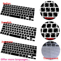 NE_ Multi language Silicone Keyboard Cover for MacBook Air Pro Retina 13 15 Welc