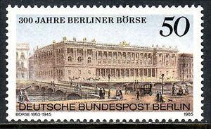 Germany-Berlin 9N501, MNH. berlin Bourse, 300th anniv. 1985