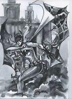 a01033 Original art Batgirl ⭐AlbertStoneGallery⭐ drawing by Ladin comics