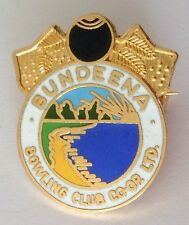Bundeena Bowling Club Coop Badge Pin Vintage Lawn Bowls (L24)