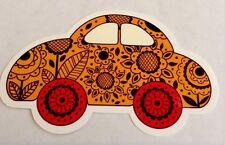 Pegatina/sticker/autocollant/Adesivo/ Etiket: Glossy: Flowers Car Beetle VW