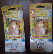 Happy Birthday Cake Topper Picture Frame Set of 2