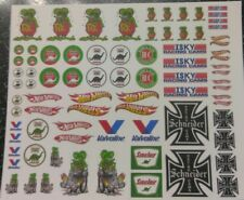 Rat Fink #2 WATER-SLIDE DECALS FOR HOT WHEELS / MATCHBOX, 1:64 MADE IN USA!!!