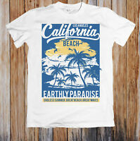 CALIFORNIA BEACH EARTHLY PARADISE UNISEX T-SHIRT