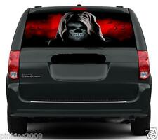 Grim Reaper Red Sky and Bats Car or Caravan Window Vehicle Graphic Sticker/Decal