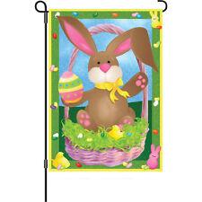 """Easter Bunny Egg Chicks Basket Jelly Beans Garden Flag 18"""" x 12"""""""