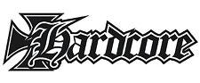 2x HARDCORE Black Pearl KTM AUTO MOTORRAD Aufkleber Decal Tuning 4 hardcore HC