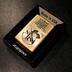 Zippo Lighter Evangelion U.N. NERV AWARD Ver Gold Brass Japan New