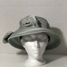 New listing Vintage Mr John Classic New York Paris Women's Hat Grey Embellished