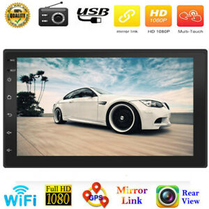 2 Din 7'' 9210S  Android 10.1 Car Stereo MP5 Player GPS Nav WiFi FM Radio