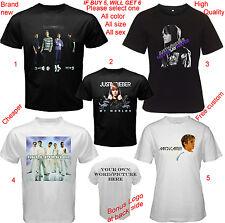Backstreet Boys Aaron Carter Justin Bieber T-shirt All Size S,M,L~5XL,Kids,Baby