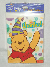~WINNIE THE POOH~  8-THANK YOU NOTES- 1 st. BIRTHDAY -  , PARTY SUPPLIES
