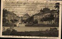 Ansichtskarte PK Bamberg Schönleinsplatz Stadtansicht antik gelaufen 1921 Bayern