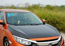 Pop Carbon Fiber OEM Front Hood Bonnet Part For Honda Civic FC 10th Generation