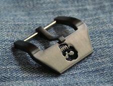 24mm Uhren-Schließe Buckle schwarz Totenkopf Skull Neu perfekt f Vintage Straps
