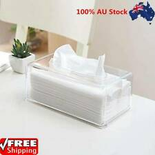 Facial Tissue Dispenser Box Cover Holder Clear Acrylic Rectangle NapkinOrganizer