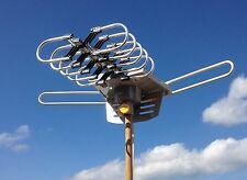 Price hdtv outdoor amplified antenna hd tv 36db rotor remote 360 uhf vhf fm 150 | WIKIPRICE USA