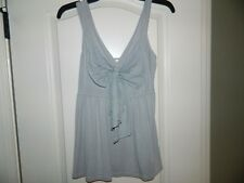 Women's H&M Gray Top w/Bow Size Small