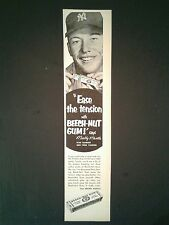 1953 Mickey Mantle Yankees Baseball Beech~Nut Gum Vintage Star Slugger Photo Ad