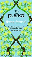 Pukka Tea Three Fennel Organic Herbal 20 Teabags