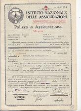 M467-ISTITUTO NAZIONALE ASSICURAZIONI-POLIZZA 1926