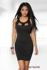 SEXY abito vestito NERO taglie S,M,L XL (40,42,44,46) COCKTAIL CLUB disco