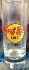 "Hard Rock Cafe Montreal 4"" Shot Glass Cordial Classic Hrc Logo Black Text Letter"