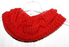 New Handmade Knitted Sparkling Red Diamond Woman's Infinity Cowl