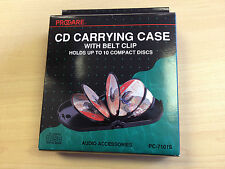 CD / DVD Carrying Case Portable Hard Case for protection with Belt - holds 10