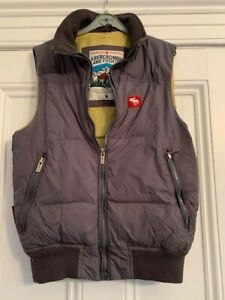 Abercrombie & Fitch Down & Feather Slate Grey Mens M Gilet