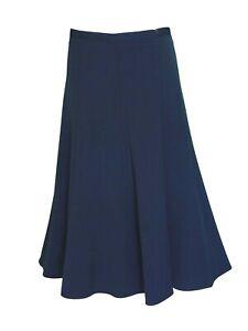 New Women's Ladies a line Half Elasticated Waist Plain Skirts