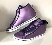 Rare Adidas Originals Honey Heel Mid Top Hidden Wedge Boots Trainers UK 8 Purple