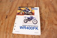 Yamaha WR400FK OEM Owners Service Manual WR400