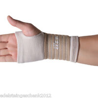1x Handbandage Handgelenkbandage Handgelenkstütze Handstütze Beige 18x9cm Neu P/