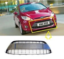 FORD FIESTA MK7 NEW LOWER FRONT BUMPER CENTRE GRILLE PANEL TRIM CHROME SURROUND
