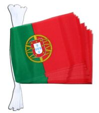 Fahnenkette Flaggenkette Girlande Portugal Fahnen Flaggen 15x22cm