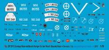 Peddinghaus-Decals 1/9 2913 Zündapp Motorrad Beschriftungen für den Revell Bausa