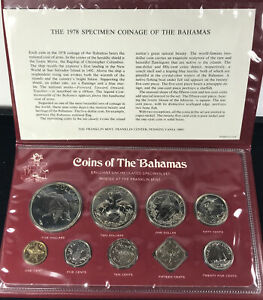 1978 COINS OF THE BAHAMAS UNCIRCULATED SPECIMEN SET-9 COINS S163