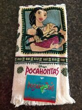 New Vintage Disney's POCAHONTAS Disney Fringe Hand Towel Kitchen Bath