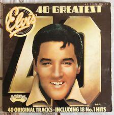 ELVIS PRESLEY,40 GREATEST,VINTAGE DOUBLE ALBUM LP 33.VINYLS.40 AMAZING SONGS.