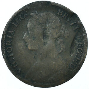 1886 FARTHING GB UK QUEEN VICTORIA COLLECTIBLE COIN  #WT27959