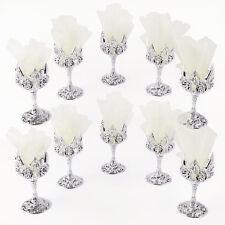 10 x Gastgeschenke Hochzeit Party Kommunion Kelch Creme Organzakreis Tischdeko