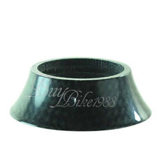 New 3k Full Carbon Glossy Conical Tapered Spacer 20mm Mat Black ROAD