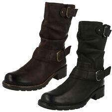 Clarks Women's 100% Leather Biker Boots