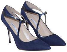 MANOLO BLAHNIK Patent Leather & Suede Pumps Size36