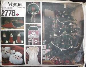 Vintage Vogue Pattern 2776 CHRISTMAS Crafting & Home Decor Uncut & FF