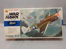 Vintage Hasegawa 1/72 P-40N War Hawk ~ U.S. Army Fighter ~ Sealed Contents
